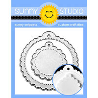 Sunny Studio Stamps - Sunny Snippets - Dies - Scalloped Tags - Circle