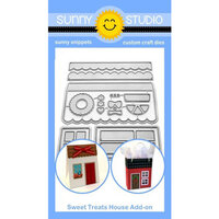 Sunny Studio Stamps - Christmas - Sunny Snippets - Dies - Sweet Treat - House Add-on