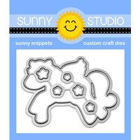 Sunny Studio Stamps - Sunny Snippets - Dies - Prancing Pegasus