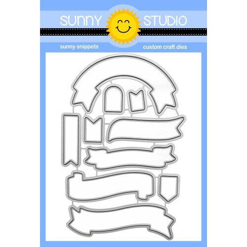 Sunny Studio Stamps - Craft Dies - Banner Basics