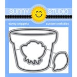 Sunny Studio Stamps - Craft Dies - Potted Rose