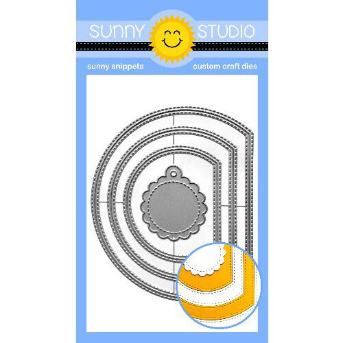 Sunny Studio Stamps - Sunny Snippets - Dies - Stitched Semi Circle
