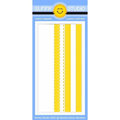 Sunny Studio Stamps - Sunny Snippets - Dies - Slimline - Basic Borders