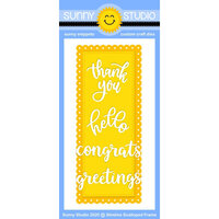Sunny Studio Stamps - Craft Dies - Slimline Scalloped Frame