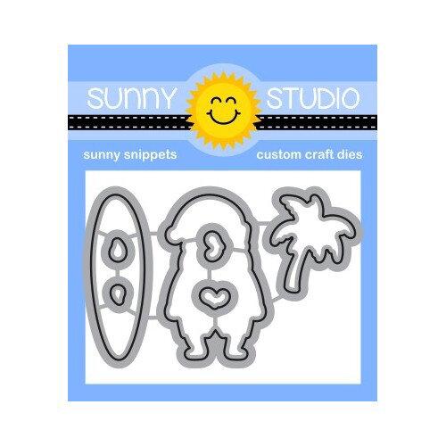 Sunny Studio Stamps - Christmas - Craft Dies - Surfing Santa