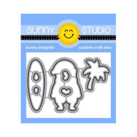 Sunny Studio Stamps - Christmas - Craft Dies - Surfing Santa