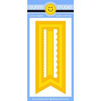 Sunny Studio Stamps - Craft Dies - Slimline Pennant