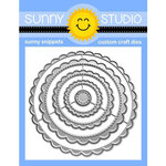 Sunny Studio Stamps - Craft Dies - Scalloped Circle Mats - Set One