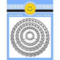 Sunny Studio Stamps - Craft Dies - Scalloped Circle Mats - Set Two