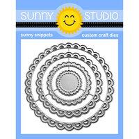 Sunny Studio Stamps - Craft Dies - Scalloped Circle Mats - Set Three