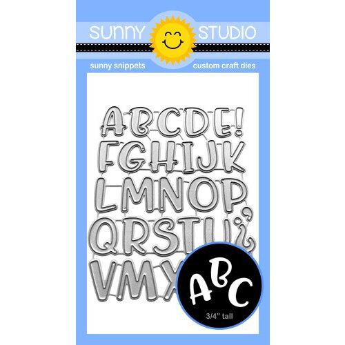 Sunny Studio Stamps - Craft Dies - Chloe Alphabet