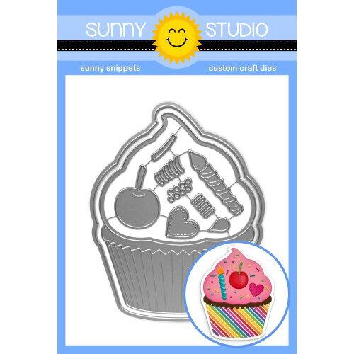 Sunny Studio Stamps - Craft Dies - Cupcake Shape