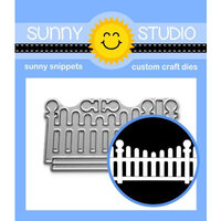 Sunny Studio Stamps - Craft Dies - Scalloped Fence