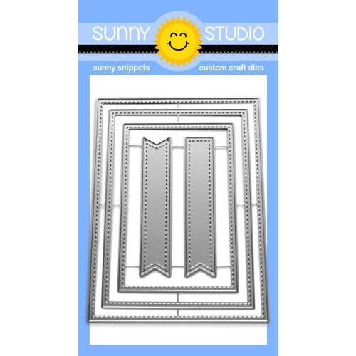 Sunny Studio Stamps - Craft Dies - Stitched Rectangles