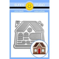 Sunny Studio Stamps - Christmas - Craft Dies - Gingerbread House