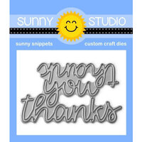 Sunny Studio Stamps - Craft Dies - Thank You Words