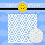 Sunny Studio Stamps - Christmas - Embossing Folder - Dapper Diamonds