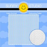 Sunny Studio Stamps - Christmas - Embossing Folder - Cable Knit