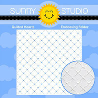 Sunny Studio Stamps - Embossing Folder - Quilted Hearts