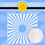 Sunny Studio Stamps - Embossing Folder - Sunburst