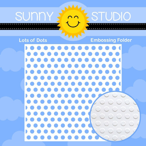 Sunny Studio Stamps - 6 x 6 Embossing Folder - Lots of Dots