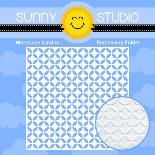Sunny Studio Stamps - 6 x 6 Embossing Folder - Moroccan Circles