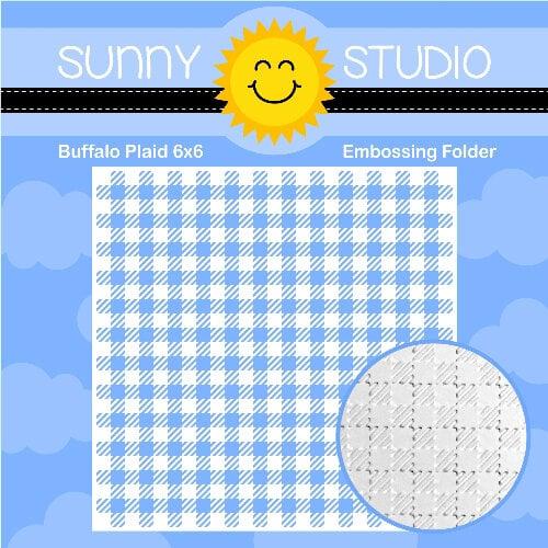 Sunny Studio Stamps - Embossing Folder - Buffalo Plaid