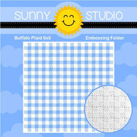 Sunny Studio Stamps - Embossing Folder - Buffalo Plaid
