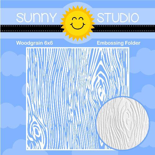 Sunny Studio Stamps - Embossing Folder - Woodgrain