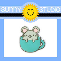 Sunny Studio Stamps - Enamel Pin - Mouse in Mug