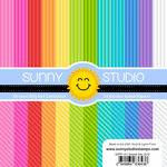 Sunny Studio Stamps - 6 x 6 Paper Pack - Striped Silly