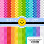 Sunny Studio Stamps - 6 x 6 Paper Pack - Classic Gingham