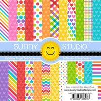 Sunny Studio Stamps - 6 x 6 Paper Pack - Rainbow Bright