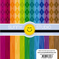 Sunny Studio Stamps - 6 x 6 Paper Pack - Amazing Argyle