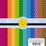 Sunny Studio Stamps - 6 x 6 Paper Pack - Dots and Stripes Jewel Tones