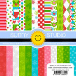 Sunny Studio Stamps - Christmas - 6 x 6 Paper Pack - Holiday Cheer