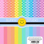 Sunny Studio Stamps - 6 x 6 Paper Pack - Gingham Pastels