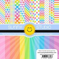 Sunny Studio Stamps - 6 x 6 Paper Pack - Spring Sunburst