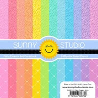 Sunny Studio Stamps - 6 x 6 Paper Pack - Flirty Flowers