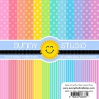 Sunny Studio Stamps - 6 x 6 Paper Pack - Dots and Stripes - Pastels