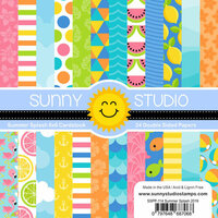 Sunny Studio Stamps - 6 x 6 Paper Pack - Summer Splash