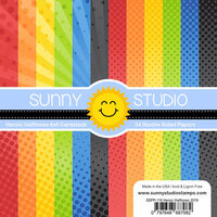 Sunny Studio Stamps - 6 x 6 Paper Pack - Heroic Halftones