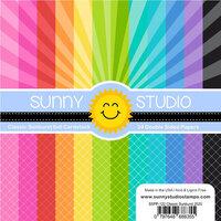 Sunny Studio Stamps - 6 x 6 Paper Pack - Classic Sunburst