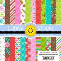 Sunny Studio Stamps - Christmas - 6 x 6 Paper Pack - All Is Bright