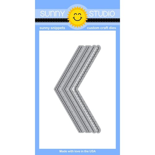 Sunny Studio Stamps - Sunny Snippets - Dies - Fishtail Banners