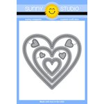 Sunny Studio Stamps - Sunny Snippets - Dies - Stitched Hearts