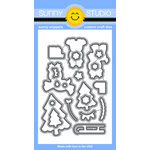 Sunny Studio Stamps - Christmas - Sunny Snippets - Dies - Gleeful Reindeers