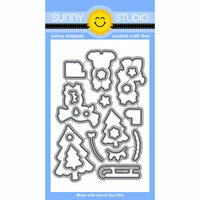 Sunny Studio Stamps - Sunny Snippets - Dies - Gleeful Reindeers