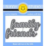 Sunny Studio Stamps - Sunny Snippets - Dies - Friends and Family Word