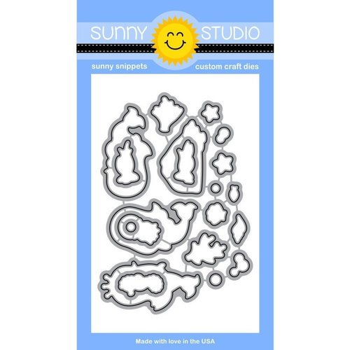 Sunny Studio Stamps - Sunny Snippets - Dies - Magical Mermaids